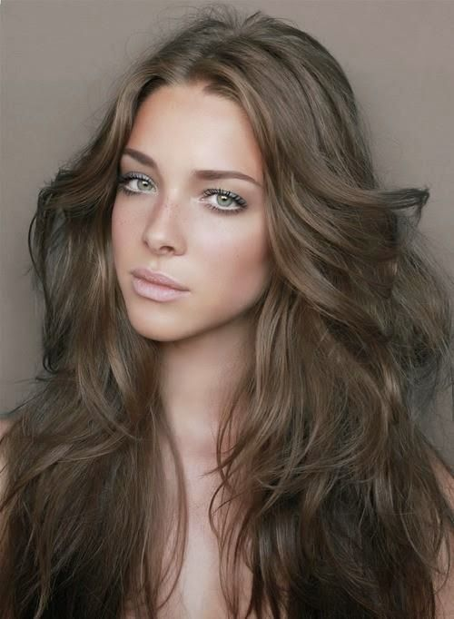 Dark ash brown hair color