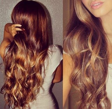 You can use honey to get ombre highlights