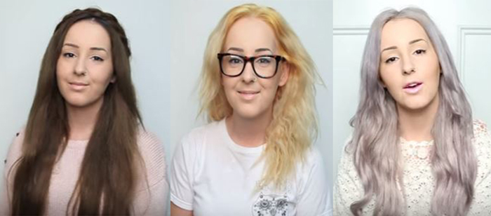 getting silver hair before and after photos