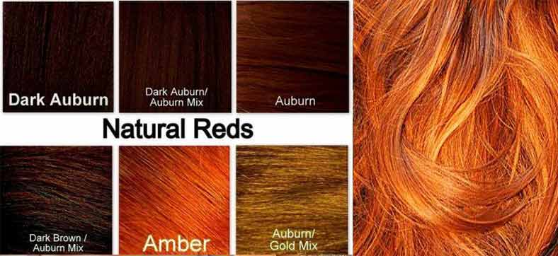 Ginger Hair Color: chart, Formula and Code