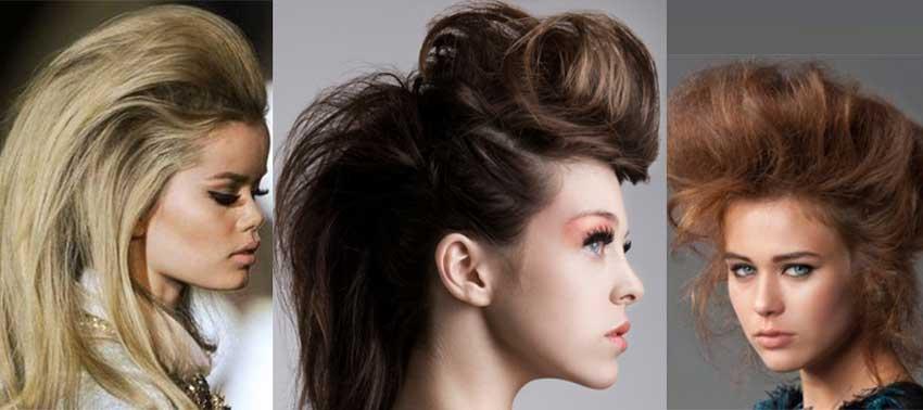 Tease/backcombed hair for volume