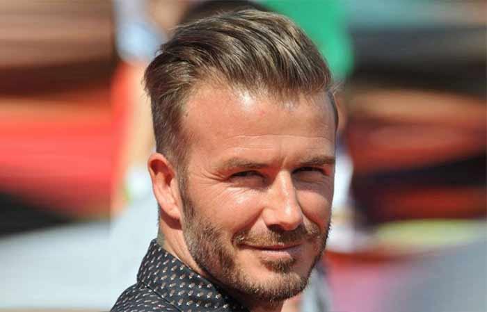 Beckham Slicked back hairstyle