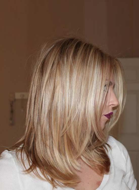 Blonde Hair Caramel Lowlights