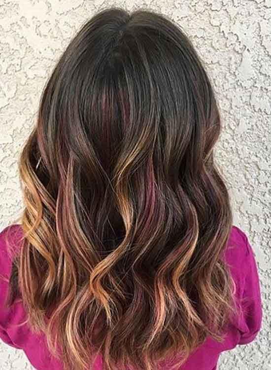 Mocha violet hair