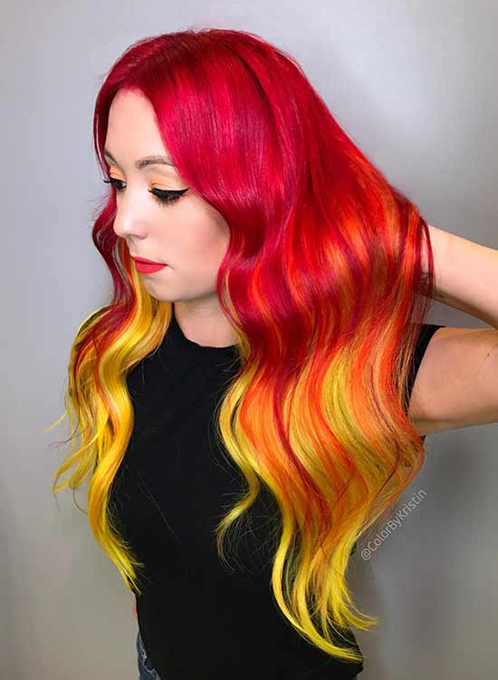 Orange, Red and yellow hair idea
