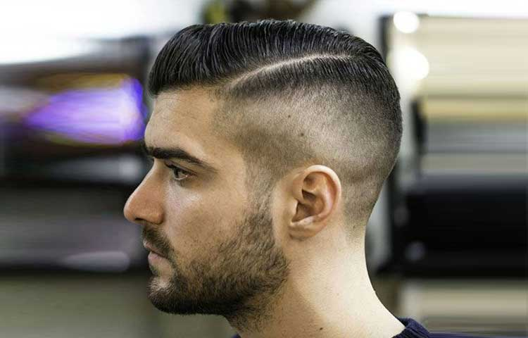 Side part Hairstyle for square face male