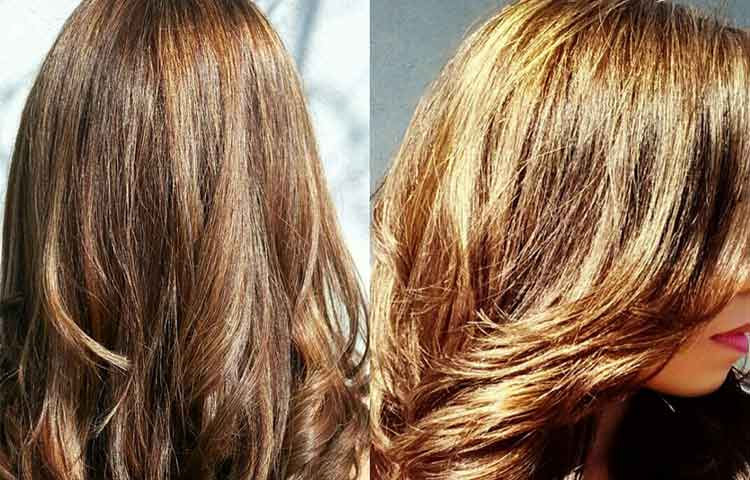 Before and after chamile hair results