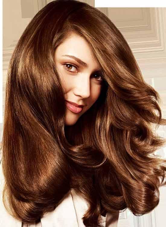 Shiny Brassy Mocha Hair