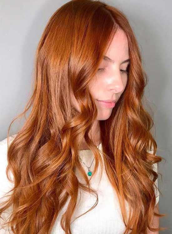 Copper Ginger hair color