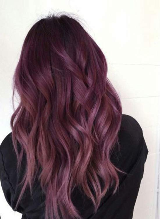 Dark Rose gold hair color