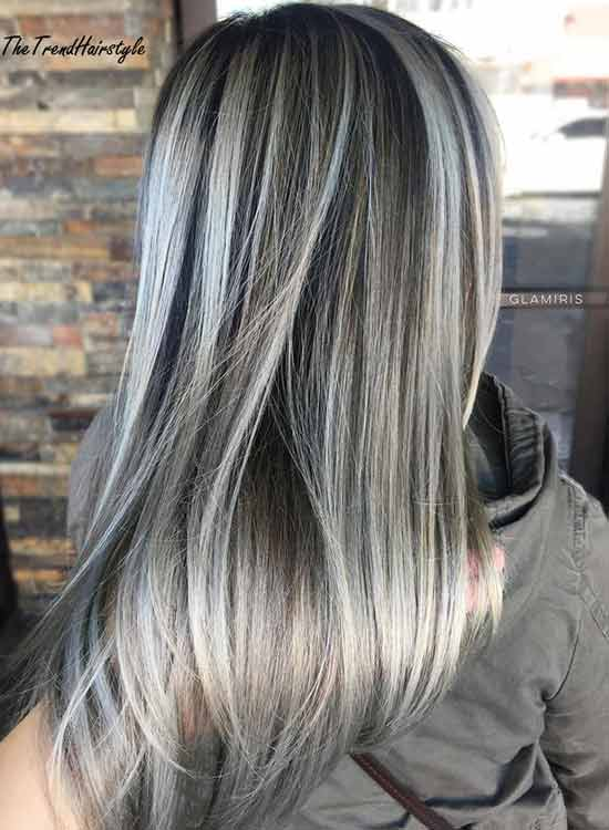 How to disguise or blend grey hair with highlights