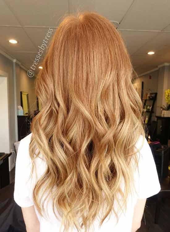 Ginger Blonde: Dye red hair to blonde