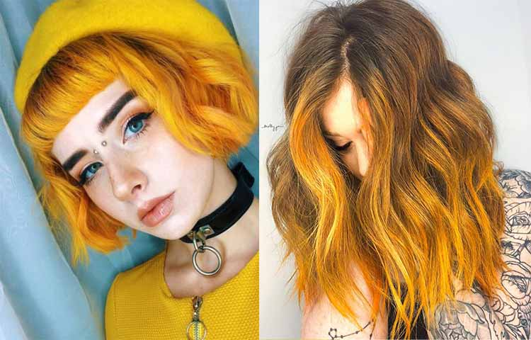 Mustard yellow hair pics
