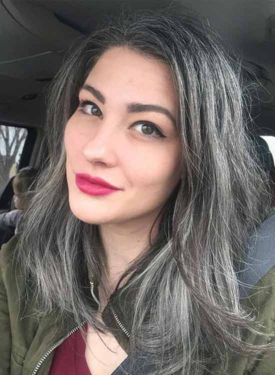 Natural Grey without dye or color