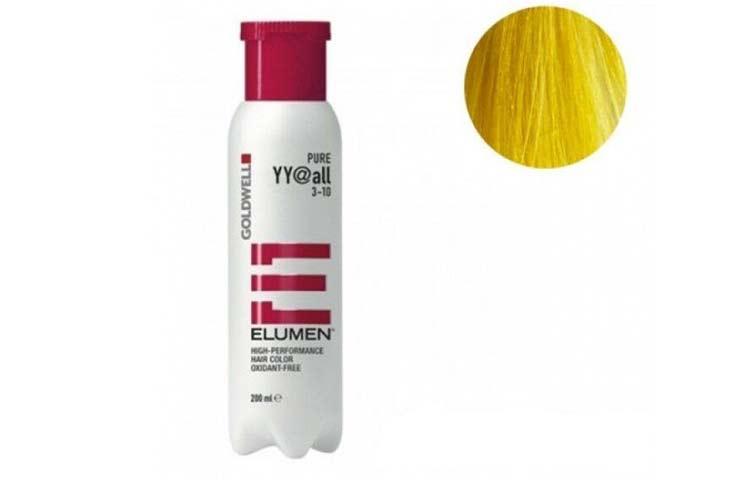 Permanent yellow hair dye