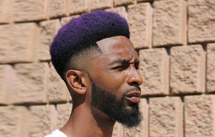 Dark Purple hair Black Man