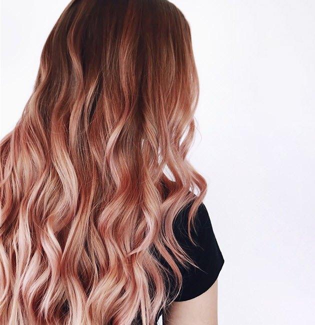 Rose gold blonde hair color