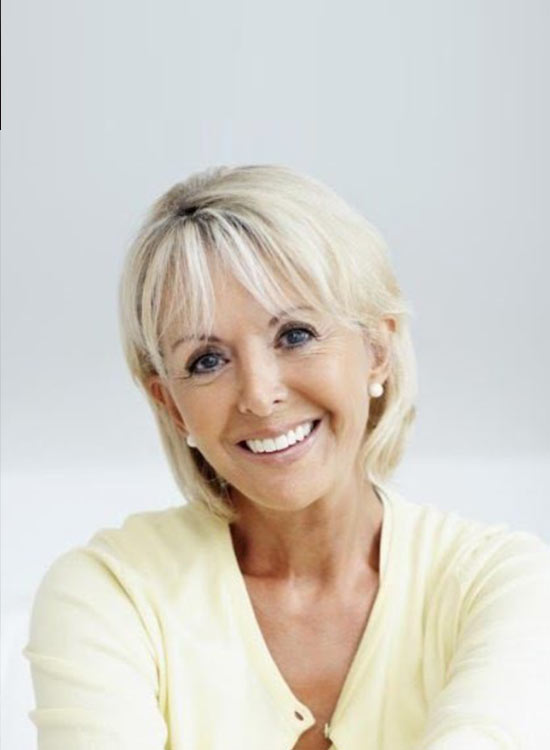 Hairstyles for square face women over 60