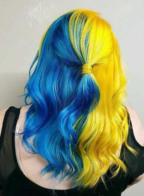 Blue and Yellow hair ideas