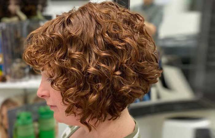 Short and curly for round face