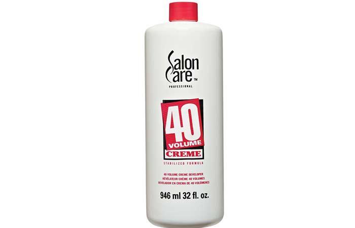 40 volume bleach duration in hair