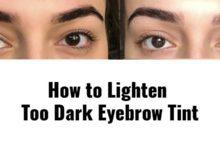 Photo of How to Lighten Too Dark Eyebrow Tint